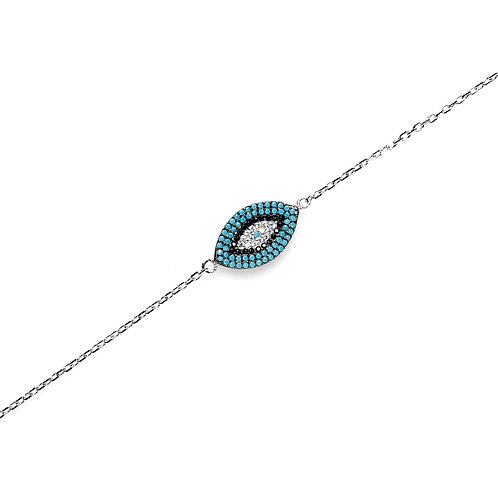 Eye Rhodium Plated Bracelet