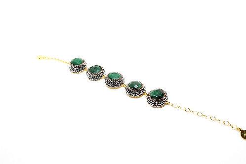 Green Swarovski Bracelet