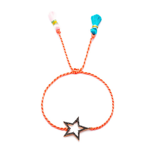 Coral Knitted Bracelet