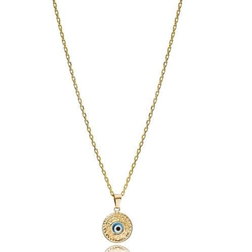 Round Shape Evil Eye Charm Necklace