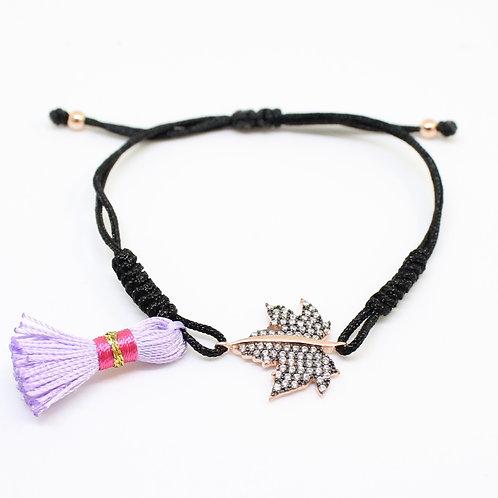 Black Knitted Bracelet