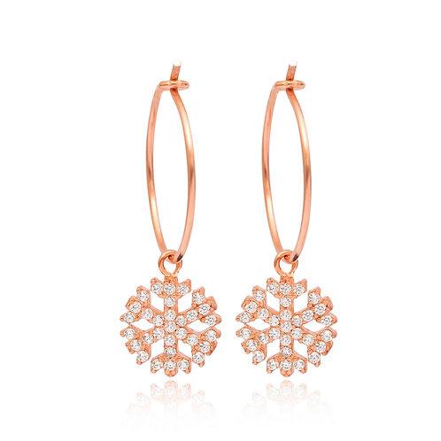 Snowflakes Hoops Earrings