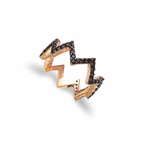 Zigzag Modern Ring
