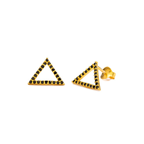 Stud Triangle Rose Gold Earrings