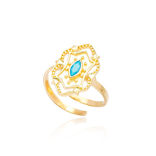 Adjustable Indian Style Gold Ring