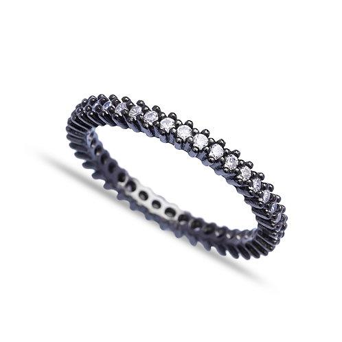 Black Rhodium Ring
