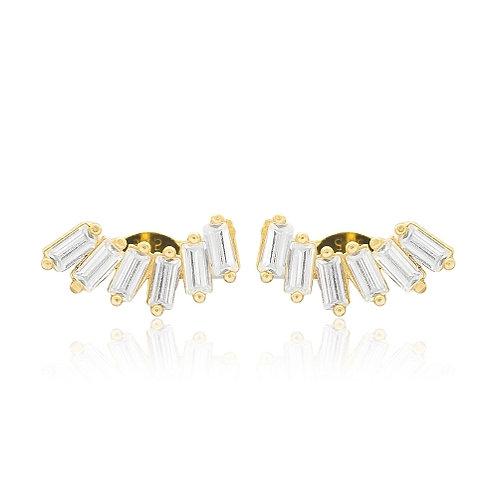 Baguette Gold Earrings