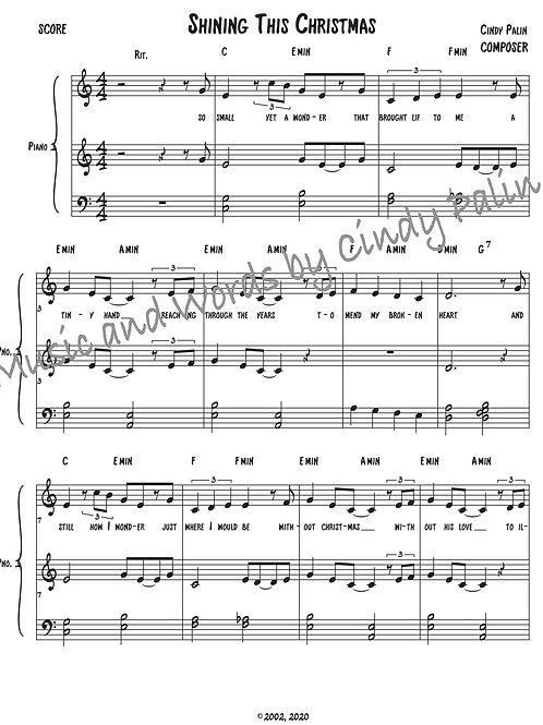 Shining This Christmas Score