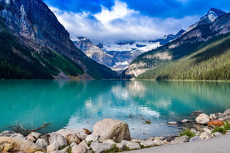Lake Louise reflections on the water in