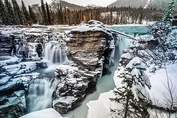 Athabasca Falls at Banff National Park,