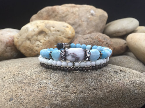 Tranquility (Made with Dominican Larimar)