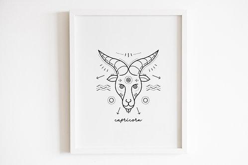Capricorn Zodiac Print