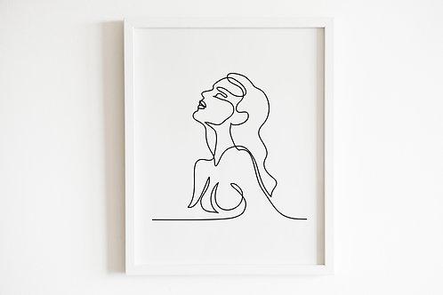 Line Drawn Female Print