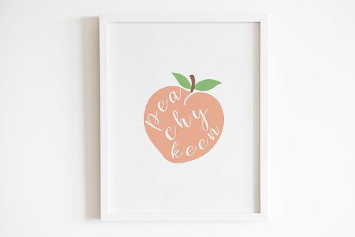 Peachy Keen Print