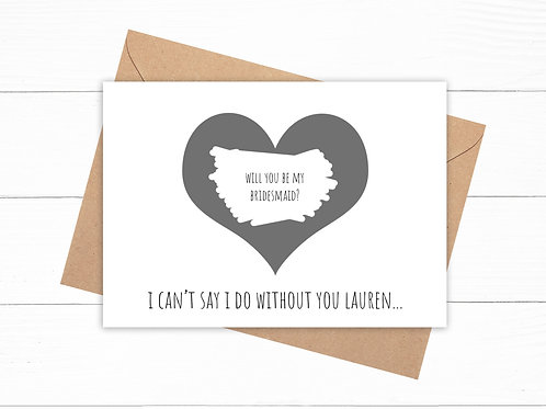 Personalised Will You Be My Bridesmaid? Scratch Card