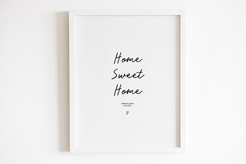 Personalised Home Sweet Home Print
