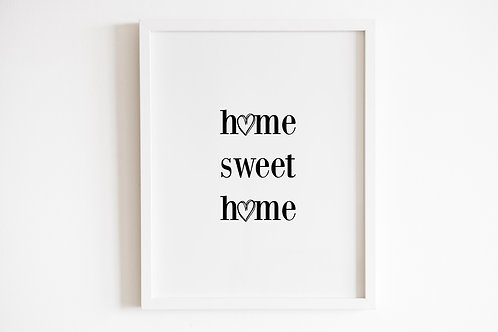 Home Sweet Home Heart Print