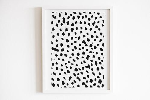 Monochrome Dalmatian Print