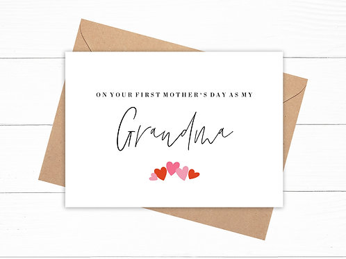 On Your First Mother's Day As My Grandma Card