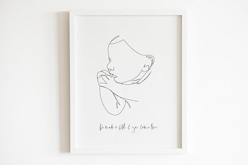 We Made A Wish And You Came True Print