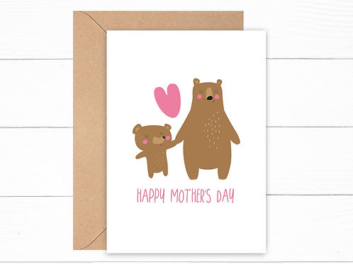 Happy Mother's Day Bears Card