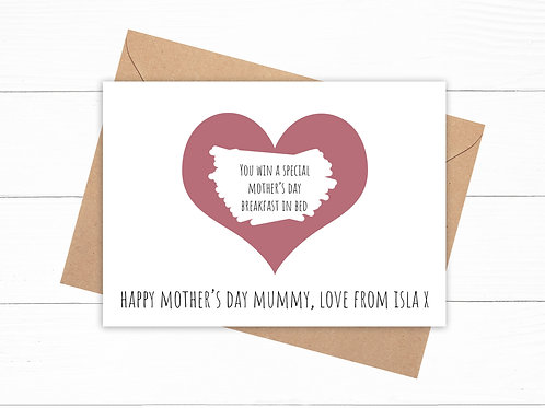 Personalised Happy Mother's Day Scratch Card