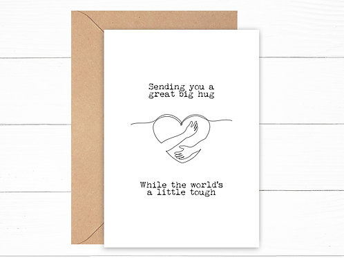 Sending You A Hug Card (Personalisation Available)