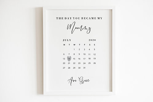 Personalised The Day You Became My Daddy Print