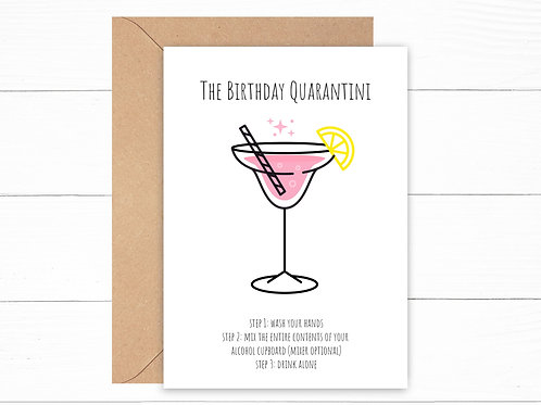 Birthday Quarantini Card