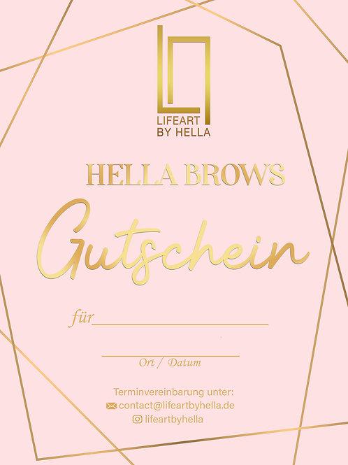 Hella Brows Gutschein