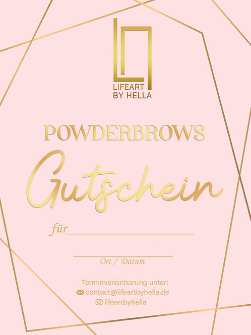 Powderbrows Gutschein 1. Behandlung