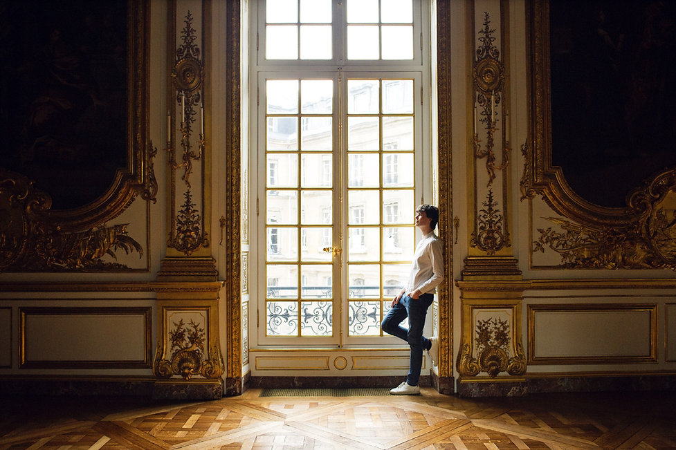 Justin Taylor dans la Galerie Dorée de la Banque de France