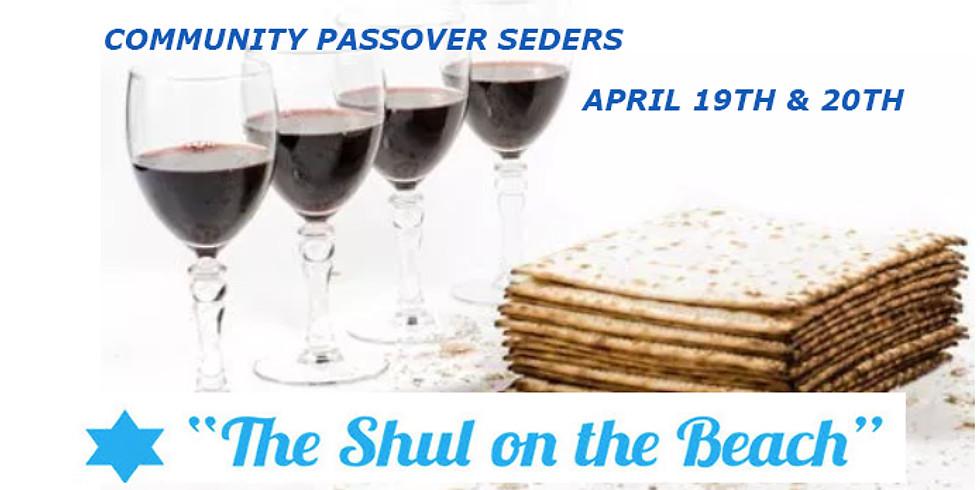 Friday, April 19th, First Night Passover Seder