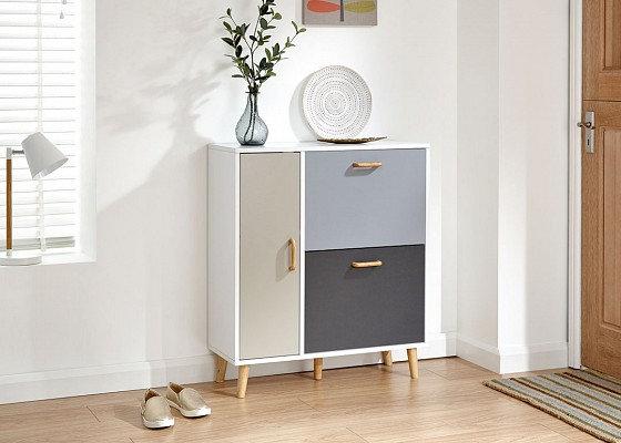 Tonal Shoe Cabinet