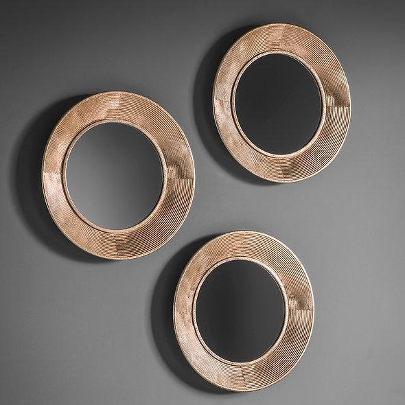 Round Mirror Bronze