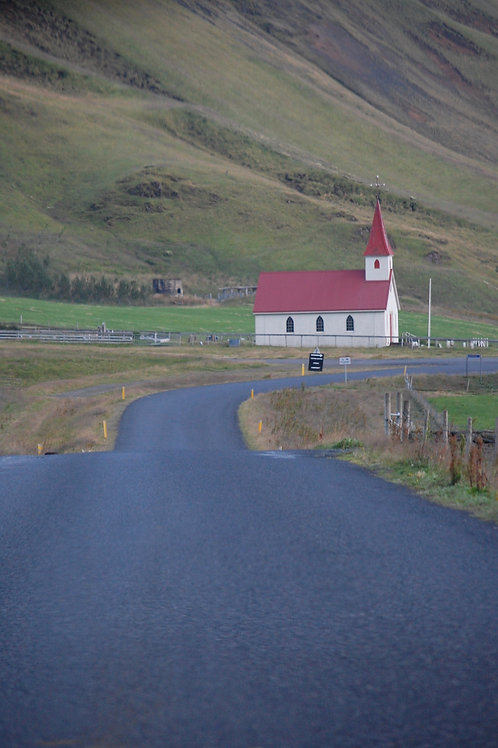 Road Leading to Rural Church