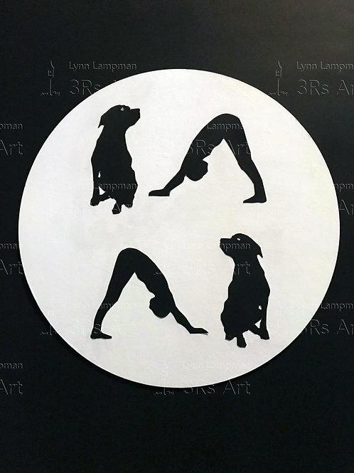 Yoga Pose: Men in Downward Dog