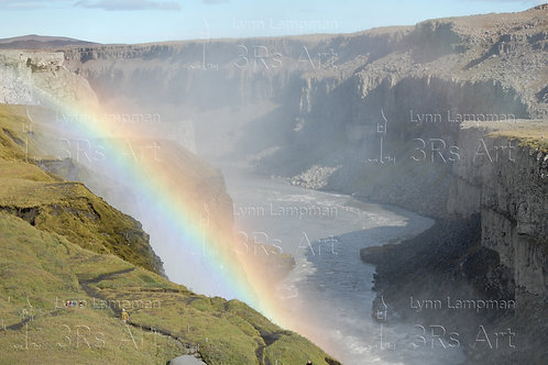 Rainbow at the Golden Waterfall