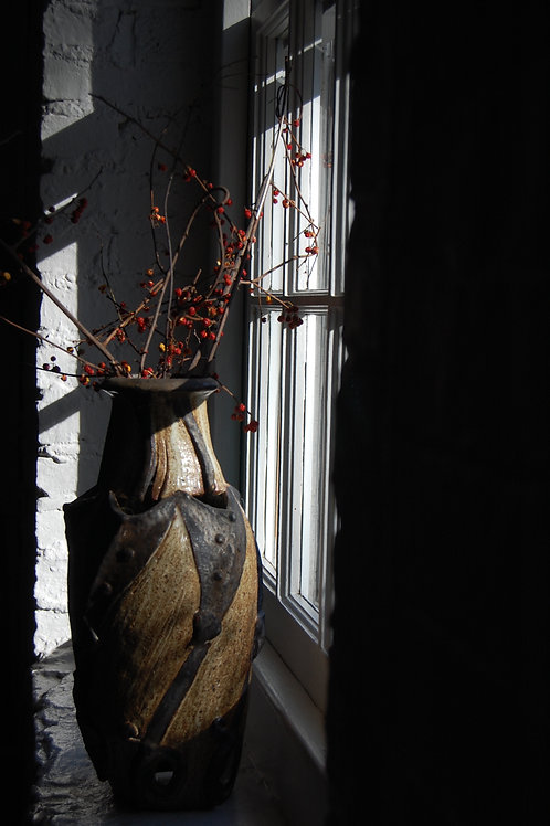 Vase and Berries in Window
