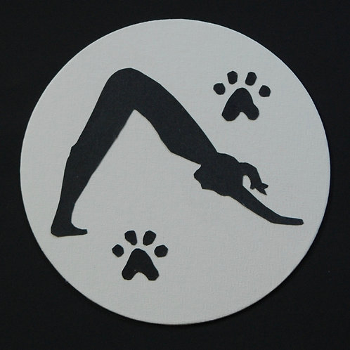 Yoga Pose: Woman in Downward Facing Dog