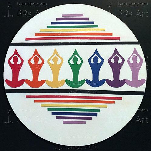 Yoga Poses: Prayer in Chakra Colors