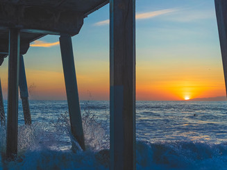 Last light under Hermosa Pier