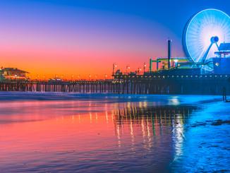 Santa Monica Pier by Sunset