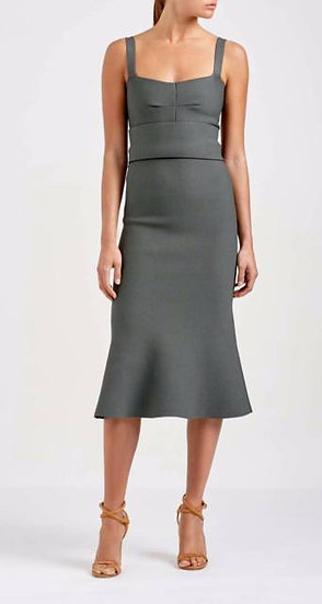 Scanlan Theodore Crepe Knit Bralette Dress