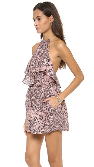 Zimmermann Writer Scarf Playsuit