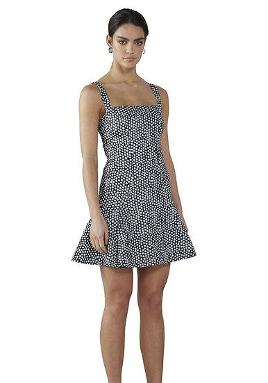 By Johnny Spotty Dotty Bell Hem Mini Dress