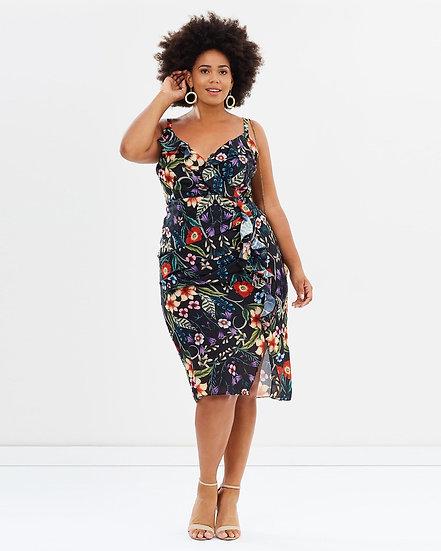 CS Curvy Gardenia Drape Dress