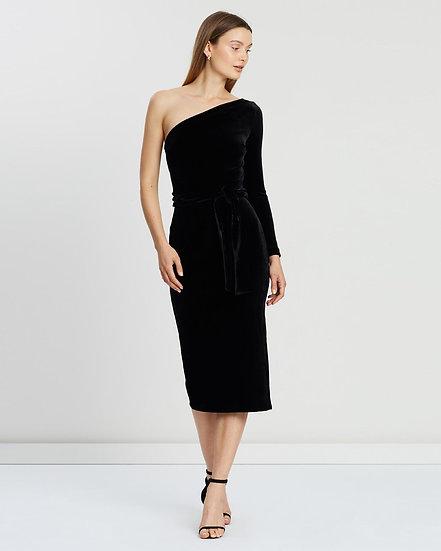 Bec & Bridge Velours One Shoulder Dress