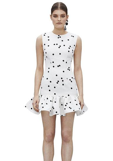 By Johnny Confetti Gather Mini Dress