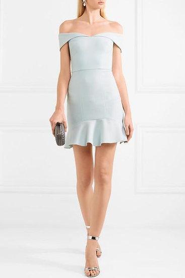 Rebecca Vallance Hamptons Off the Shoulder Mini Dress